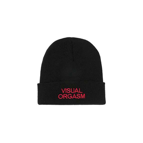 Visual Orgasm Embroidery Beanie (Black)