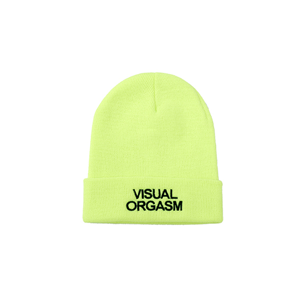 Visual Orgasm Embroidery Beanie (Neon)