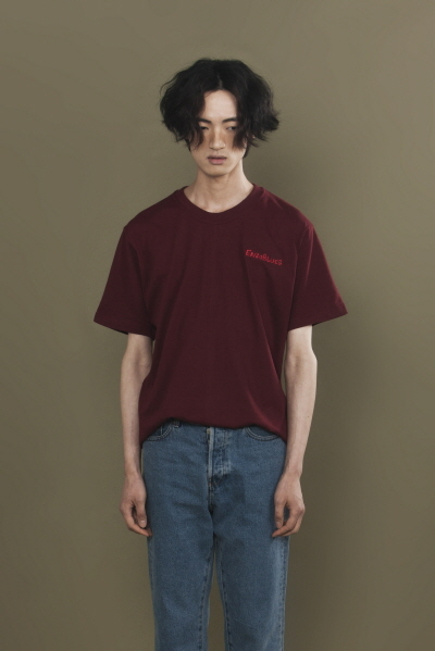 LOGO EMBROIDERED T-SHIRT (BURGUNDY)