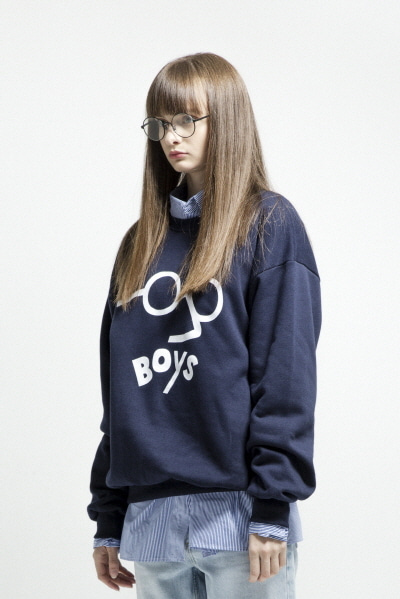 ENZO GLASSES SWEATSHIRT (NAVY)