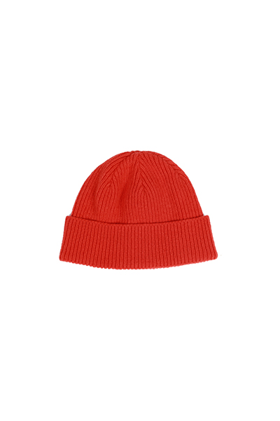 BASIC SHORT BEANIE (ORANGE)